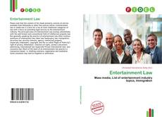 Buchcover von Entertainment Law