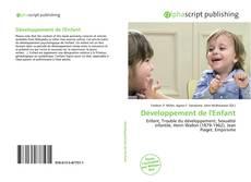 Couverture de Développement de l'Enfant