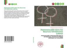 Couverture de Homosexualité dans les Sources Chrétiennes Latines