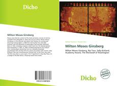 Bookcover of Milton Moses Ginsberg