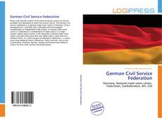 Bookcover of German Civil Service Federation