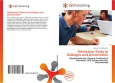 Bookcover of Admission Tests to Colleges and Universities