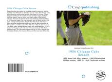 Bookcover of 1986 Chicago Cubs Season