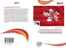 Bookcover of Hong Kong Civil Service