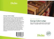 Buchcover von George Cabot Lodge