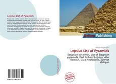 Bookcover of Lepsius List of Pyramids