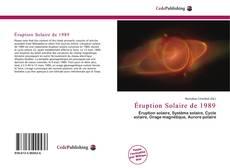 Capa do livro de Éruption Solaire de 1989