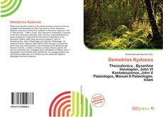 Portada del libro de Demetrios Kydones