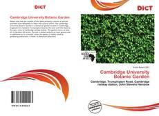Couverture de Cambridge University Botanic Garden