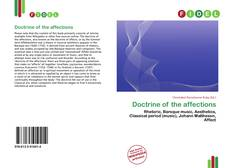 Couverture de Doctrine of the affections