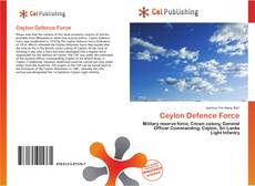 Bookcover of Ceylon Defence Force