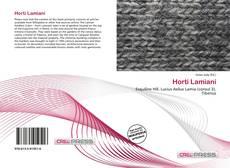 Bookcover of Horti Lamiani