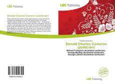 Couverture de Donald Charles Cameron (politician)