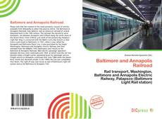 Capa do livro de Baltimore and Annapolis Railroad
