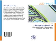 Bookcover of 1991–92 European Cup