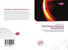 Bookcover of Cape Breton Highlands National Park