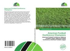 Bookcover of American Football Conference Champions