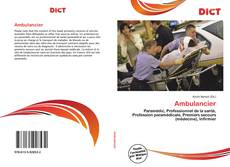 Bookcover of Ambulancier