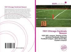 1931 Chicago Cardinals Season kitap kapağı