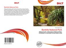 Bookcover of Barbilla National Park
