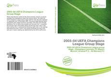 Portada del libro de 2003–04 UEFA Champions League Group Stage