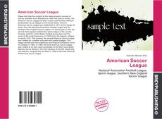 Bookcover of American Soccer League