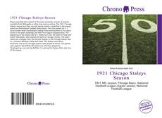 Bookcover of 1921 Chicago Staleys Season
