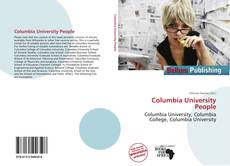 Bookcover of Columbia University People