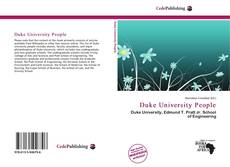 Обложка Duke University People