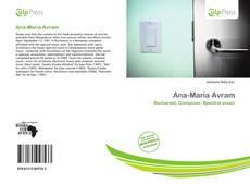 Ana-Maria Avram kitap kapağı