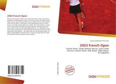 2003 French Open kitap kapağı