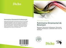 Capa do livro de Patrimoine Ornemental de Besançon