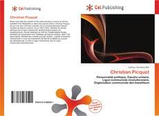 Bookcover of Christian Picquet