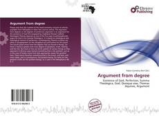 Bookcover of Argument from degree