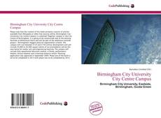 Bookcover of Birmingham City University City Centre Campus