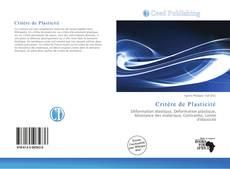 Copertina di Critère de Plasticité