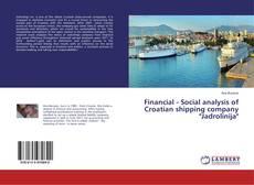"""Capa do livro de Financial - Social analysis of Croatian shipping company """"Jadrolinija"""""""