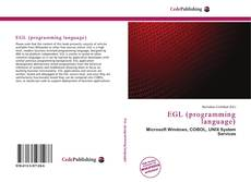Bookcover of EGL (programming language)