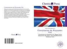 Couverture de Constitution du Royaume-Uni