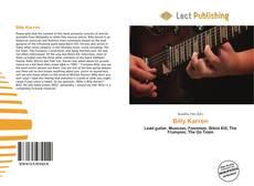 Billy Karren kitap kapağı