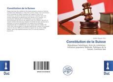 Capa do livro de Constitution de la Suisse