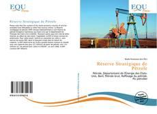 Réserve Stratégique de Pétrole kitap kapağı