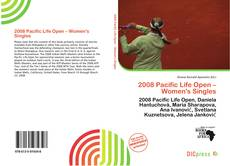 Bookcover of 2008 Pacific Life Open – Women's Singles