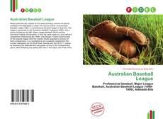 Bookcover of Australian Baseball League