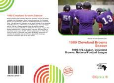 Buchcover von 1989 Cleveland Browns Season