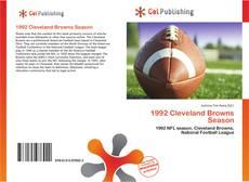 Portada del libro de 1992 Cleveland Browns Season