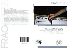 Copertina di Museum of Calligraphy