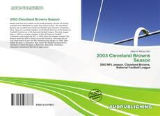 Portada del libro de 2003 Cleveland Browns Season