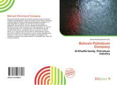 Обложка Bahrain Petroleum Company