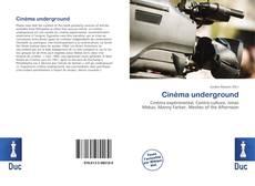 Couverture de Cinéma underground